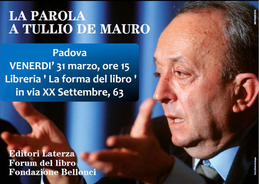 La Parola a Tullio De Mauro